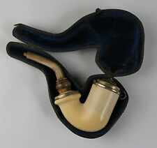 Cased meerschaum tobacco pipe. Smoking Tobacciana