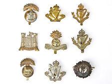 9 Original WWI Irish Volunteer Cap Badges