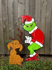 ON SALE! GRINCH Stealing the CHRISTMAS Lights w MAX the Reindeer Yard Decor LEFT