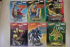 6 Hot Wheels Riders Pop Culture Marvel Iron Man Daredevil Loki Thor Luke Hulk