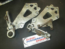Suzuki GSXR750 85 to 87 slabside rear footpeg and bracket assemblies.