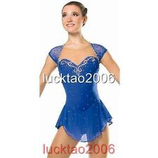 2016 New Figure Ice Skating Dress Costume Sparkle Brand icefairy #8807-1