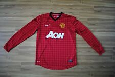 MANCHESTER UNITED 2012 2013 HOME FOOTBALL SHIRT JERSEY LONG SLEEVES VAN PERSIE M