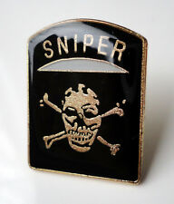 ZP57 Special Forces Sniper  Skull and Bones Army Military pin badge unusual
