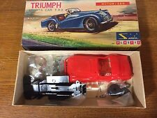 VINTAGE SANWA MOTORIZED TRIUMPH TR3 1/32 MODEL KIT CAR