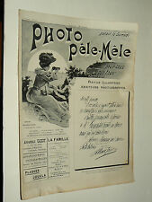 Revue Photo Pele Mele N°10  9/1903  photographie journal magazine stéreo book
