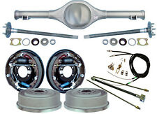 "CURRIE 64-66 MUSTANG REAR END & 11"" DRUM BRAKES,LINES,PARKING BRAKE CABLES,AXLES"