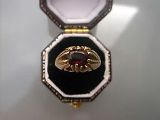 Men's/Women's Gold 9ct Gold Vintage Signet Ring Garnet/Ruby? Stone 3.5g Size J