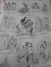Caricature Typo 1880 Au Concours Hippique Pèle mèle dessins