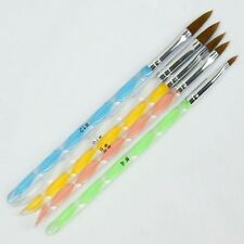 5x MIX COLORI NAIL ART UV Brush Set Box Unghie Finte PITTURA SMALTO MANICURE