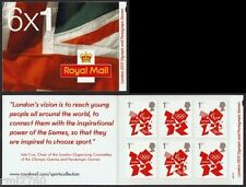 2012 VISION QUOTE LONDON OLYMPICS CYLINDER DEFINITIVE BOOKLET 6 x 1st Class MB9