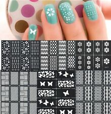 5 Sheets Hollow Nail Art Manicure Stencil Stickers Easy Use Nail Vinyls Stencil