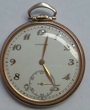 14 KARAT SOLID YELLOW GOLD LONGINES POCKET WATCH