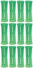 Hair Setting Rollers & Plastic Pins For Curls GREEN 18mm diameter Pk 12 Skelox