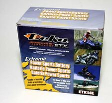DEKA Genuine New ETX14L AGM PowerSport Battery, SAME DAY SHIP