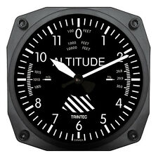 "Brand New Trintec 6"" Altimeter Instrument Style Clock 9060 A Great AviationGift"