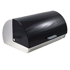 Francois et Mimi Stainless Steel Black Roll-Top Bread Box New