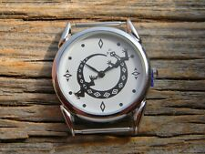 "new silver mens watch lizard  quartz movement 1 1/2"" from pin to pin"