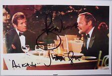 """Roger Moore & Julian Glover  orig. Autogramm """"James Bond 007 """" Motiv 13x18"""