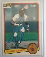 2017 DONRUSS BASEBALL Rickey Henderson AUTO #1/10 Recollection Collection A's