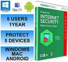 Kaspersky Internet Security Multi Device 2016 5 Users / PC 1 Year Activation Key
