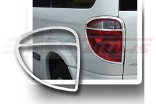 FITS DODGE GRAND CARAVAN 2001 - 2007 FACTORY-FIT CHROME TAIL LIGHT TRIM BEZELS