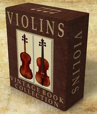 VIOLINS 101 Rare Vintage Books on DVD Violin History, Construction, Violinists