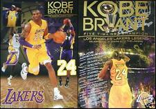 KOBE BRYANT ~ 5 TIME LAKERS CHAMPION ~ ULTRA REMOVABLE VINYL STICKERS + POSTER