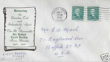 Canada FDC: 1951  3¢ Robert Borden Addressed Unknown Cachet FDC - Sc #303