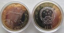 """China 10 yuan 2015 """"Space"""" UNC Bi-metallic"""