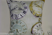 """16"""" NEW CUSHION COVER VINTAGE CLOCK FRENCH SHABBY STYLE CHIC PILLOW CASE SAGE"""