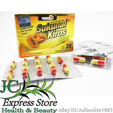 SUKUNAI KIROS MAX CAPSULES WEIGHT LOSS SUPPLEMENT 30 CAP WITH BROMELINA MANGO