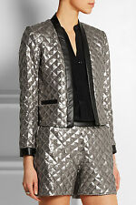 KARL LAGERFELD Rena Silver & Black sequined jersey jacket & Shorts New with tags