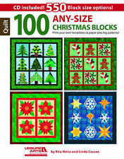 100 Any-Size Christmas Blocks: Print Your Own Templates or Paper-Piecing Pattern
