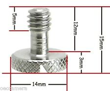 "20 x Steel Screw 1/4"" for Camera Tripod QR Plate ideal for Manfrotto / Sachtler"