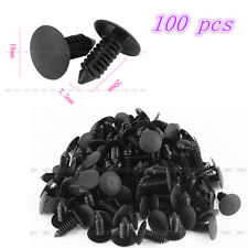 Universal Car 7.5mm Hole Plastic Door Rivet Push Clip Black 100pcs New