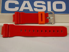 Casio Watch Band DW-6900 CB-4 Red w/Orange Keeper G-Shock Strap Watchband
