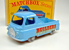 "Matchbox RW 60A Morris Pick-up blau kleine graue Plastikräder top in ""D"" Box"