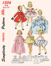 Vintage Simplicity 1336 - Sweet Sue, etc Doll Sewing Patterns - 1960's -18 inch