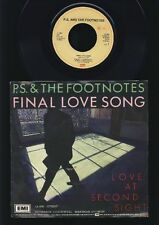 P.S. & The Footnotes - Final Love Song - Love and... 7 Inch Vinyl Single HOLLAND