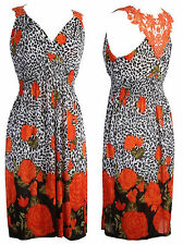 White Orange Black Dress Summer Beach Holiday  £5 Stock clearance in our shop