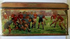 Art Deco Sports Skiing FOOTBALL SWIMMING LAWN BOWLING Tennis  Biscuit Tin 1910