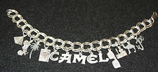 VINTAGE STERLING SILVER JOE'S PLACE CAMEL CHARM BRACELET 925 LOBSTER- CLAW CLASP