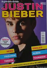 JUSTIN BIEBER - Superfan Guide Magazin 01/2012 + Poster - Clippings Fan Sammlung