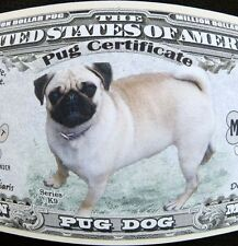 Pug dog FREE SHIPPING! Million-dollar novelty bill