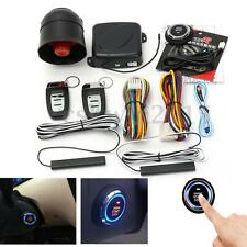 Smart Passive Keyless Entry Car Alarm System w/Push Button Remote Control Start
