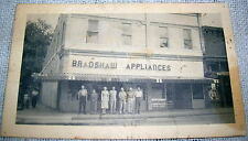 Vintage Bradsaws Appliances Store Shop Postcard - Street Scene