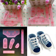 6pc Sneaker Shoes Icing Cake Decor Mold Embosser Cutter Mould Sugar Craft Tool D
