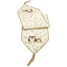 470795 Owl Table Runner Crimson Hollow Collection Mantle Piece Throw Lamp Scarf