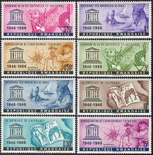 Rwanda 1966 UNESCO/Music/Science/Books/Nubian Statues/Heritage 8v set (n42175)